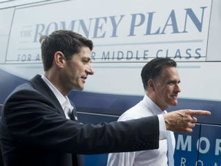 Paul Ryan, Mitt Romney (Saul Loeb/AFP/Getty Images)