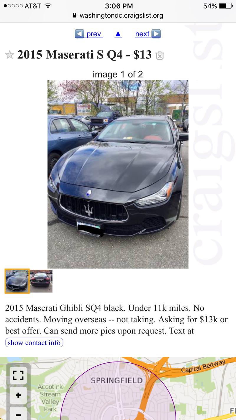 Illustration for article titled $13 Maserati