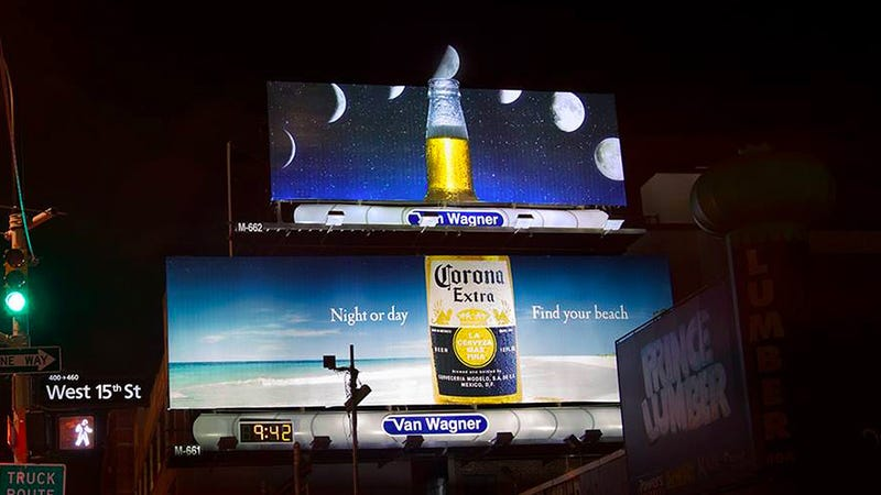 Illustration for article titled This Corona Billboard Makes the Moon the World's Biggest Lime Wedge
