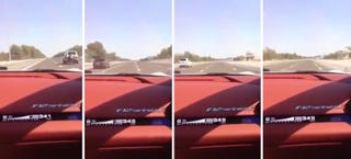 Illustration for article titled Journo Posts Video Of Himself Doing 217 MPH In A Ferrari On A Highway