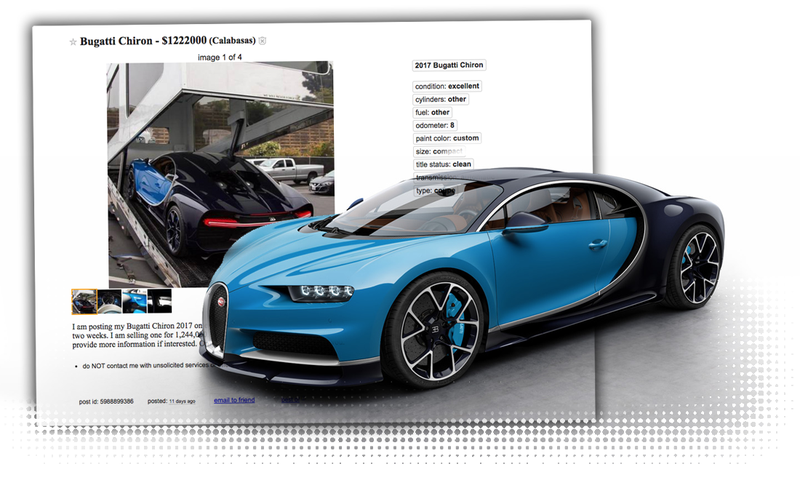 Listen: Of Course That Bugatti Chiron For Sale On Craigslist