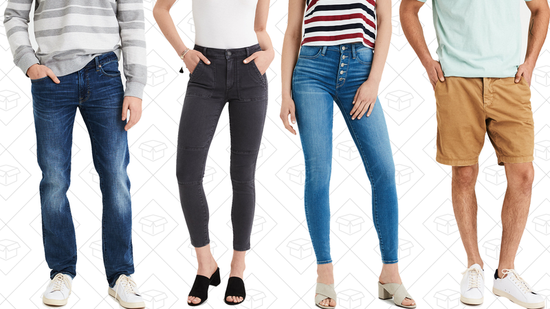 Buy one, get one 50% off jeans and shorts | American Eagle30% off two or more tops | American Eagle