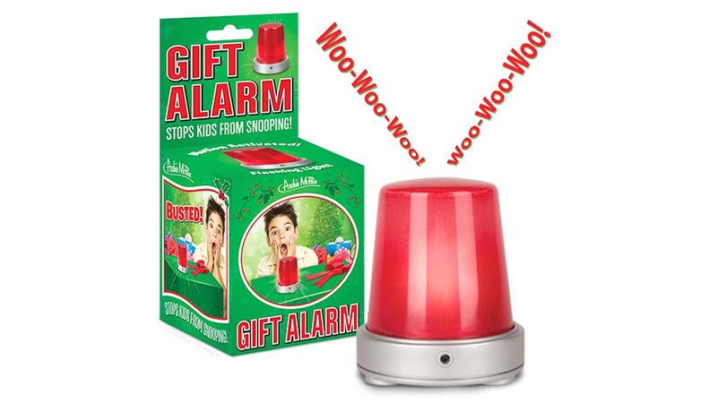 Illustration for article titled Motion-Activated Alarm Keeps Wrapped Gifts a Secret