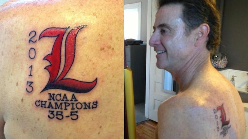Illustration for article titled Here's A Picture Of Rick Pitino's New Tattoo