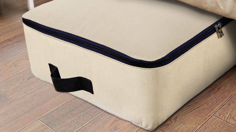 Lifewit Cotton Canvas Foldable Under Bed Storage Bags | $12 | Amazon | Use code 8DDXEWCE