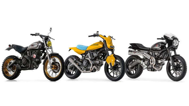 Illustration for article titled ​You'll Love To Hate The First Batch Of Ducati Scrambler Customs