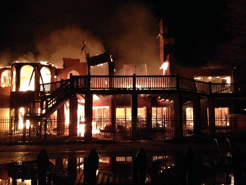 """Illustration for article titled Rolando McClain's Mansion Burns Down In """"Suspicious"""" Fire"""