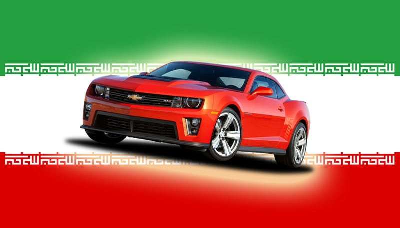 Illustration for article titled Death To Tires! Iranians Are Going Crazy For The Chevy Camaro