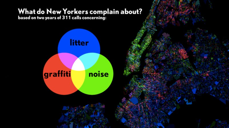 Illustration for article titled An interactive map of what New Yorkers complain about, by borough