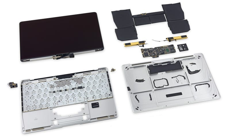 Illustration for article titled El nuevo MacBook, pieza a pieza: una bestia imposible de reparar