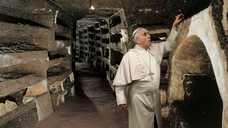 Illustration for article titled Pope Francis Scouring Papal Tombs For Final Easter Egg Of Vatican Hunt