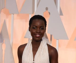 Actress Lupita Nyong'o arrives on the red carpet for the 87th Academy Awards on Feb. 22, 2015, in Hollywood, Calif.MARK RALSTON/AFP/Getty Images