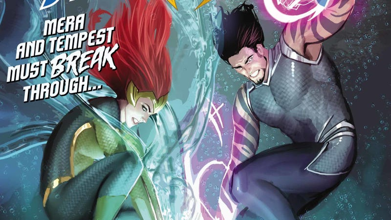 Illustration for article titled Tempest lets loose in this Aquaman #29 exclusive preview
