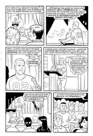 Illustration for article titled Cartoon Jason Witten Says Don't Drink And Drive, Do Read Archie