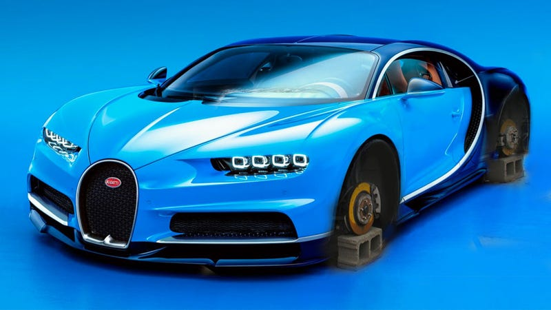 the bugatti chiron looks much better than the veyron, is just as stupid