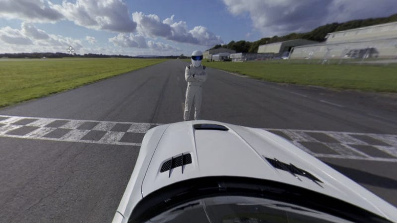 Illustration for article titled Let The Stig Take You On A 360 Degree Tour Of The Top Gear Track