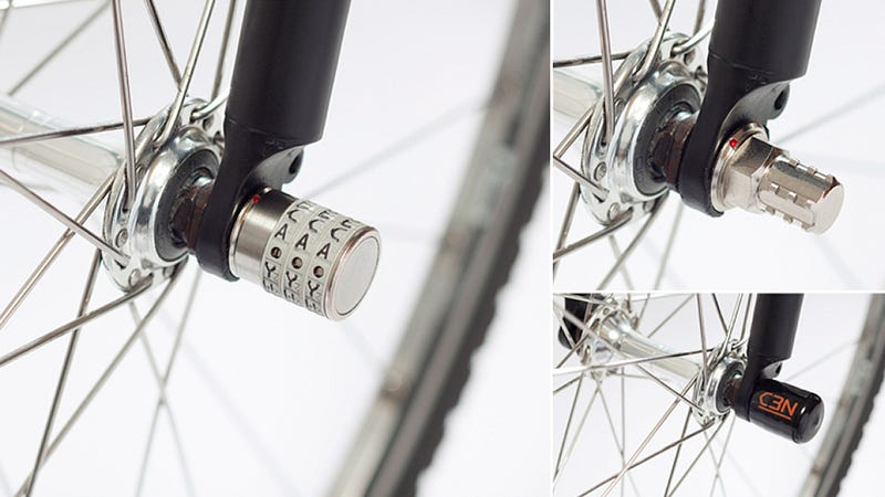 Illustration for article titled Tiny Combination Locks Prevent Your Bike's Parts From Getting Pinched