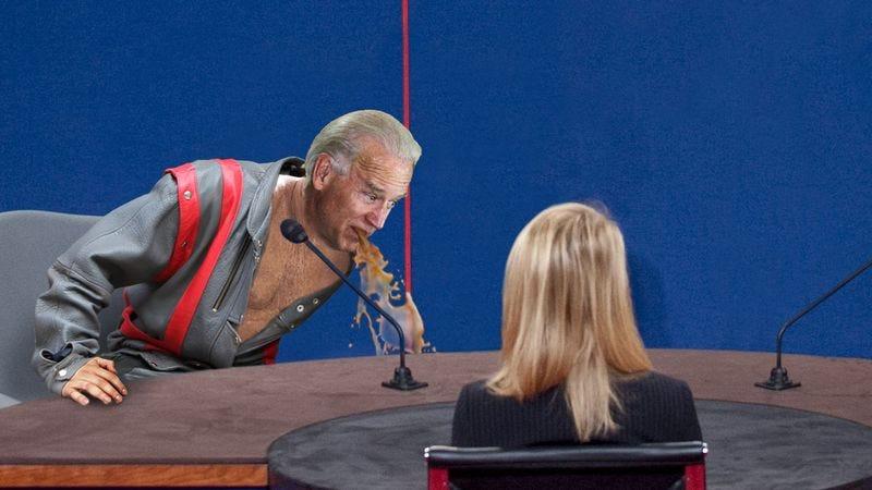 Illustration for article titled Biden Unleashes Torrent Of Vomit On Debate Stage