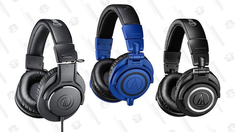 Audio-Technica ATH-M20x Professional Studio Monitor Headphones (Black) | $35 | AmazonAudio-Technica ATH-M30x Professional Studio Monitor Headphones (Black) | $52 | Amazon Audio-Technica ATH-M40x Professional Studio Monitor Headphones (Black) | $75 | AmazonAudio-Technica ATH-M50xBB Limited Edition Professional Studio Monitor Headphones (Blue) | $99 | AmazonAudio-Technica ATH-M50xBT Bluetooth headphones | $129 | Amazon