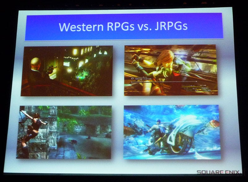 Illustration for article titled Final Fantasy Director's Take On Western Vs. Japanese RPGs
