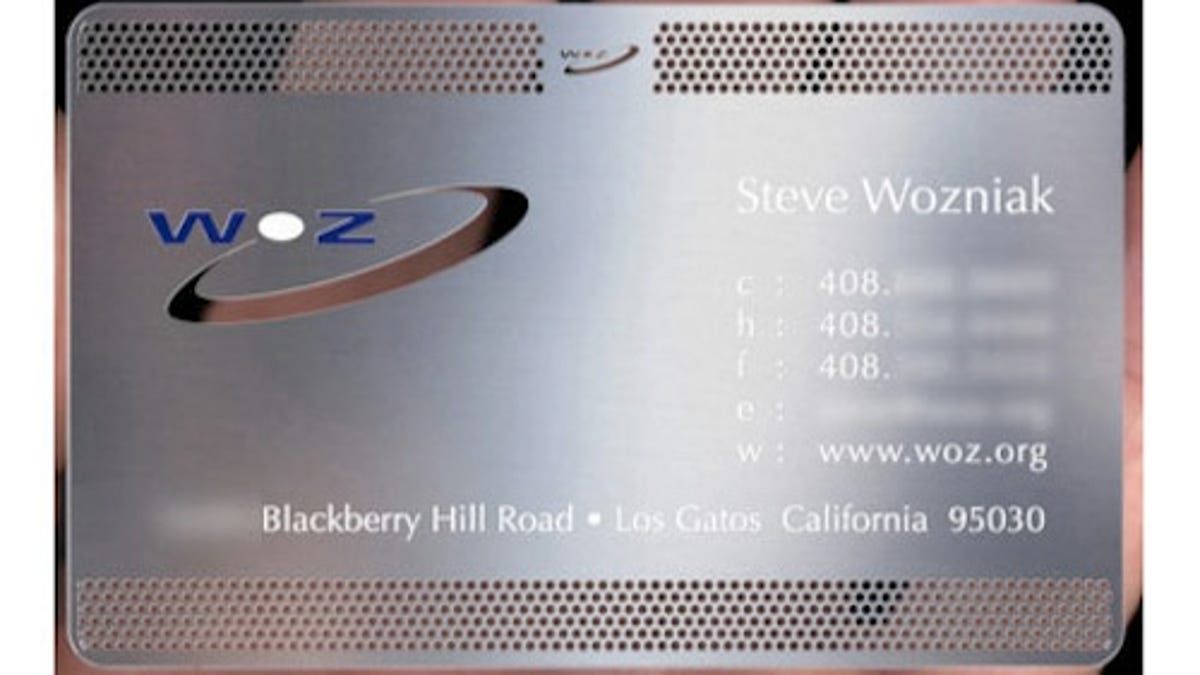 Where Do Wozniak\'s Awesome Business Cards Come From?