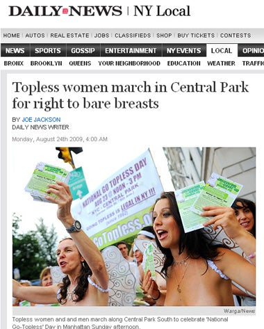 Illustration for article titled Boobs In The Park