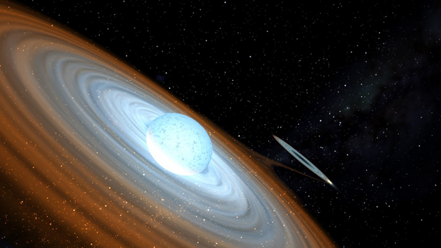 Astronomers discover a black hole orbiting a spinning star