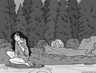 Illustration for article titled Genderqueer Fisher Accidentally Steals A Selkie's Skin In This Webcomic