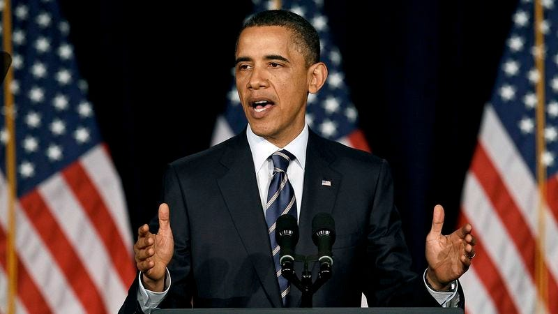 President Obama urges voters to give him one reason—one goddamn reason—why he should run for president in 2012.