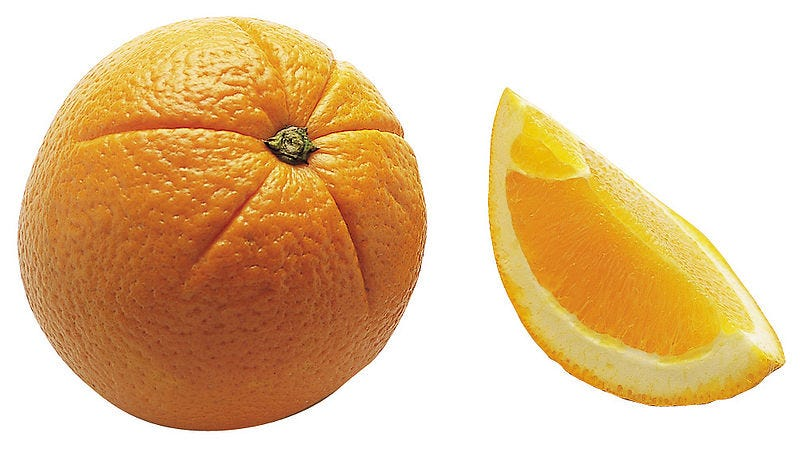 Illustration for article titled Everything you know is wrong: Oranges aren't orange.