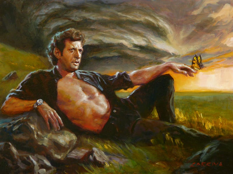 Illustration for article titled Someone made a song out of Jeff Goldblum's weird Jurassic Park laugh