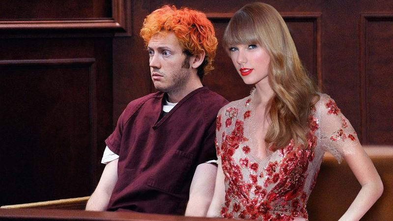 Illustration for article titled Taylor Swift Now Dating James Holmes