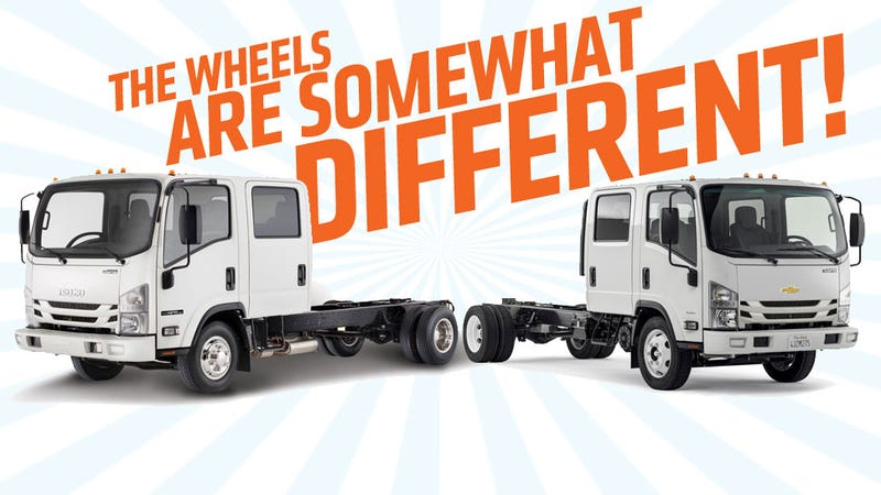 Illustration for article titled Chevy's New Line Of Cabover Trucks Are Just Isuzus