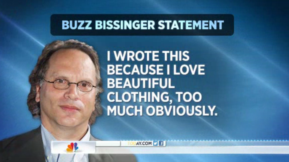 4a586fe93 Buzz Bissinger Admits To Shopping Addiction