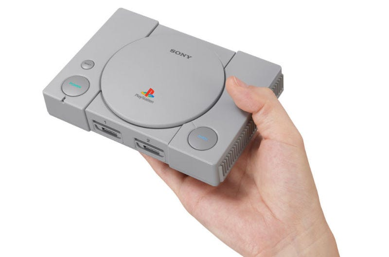 Illustration for article titled Sony anuncia la PlayStation Classic, una reedición de la PS1 que llegará con 20 juegos (incluido Final Fantasy VII)