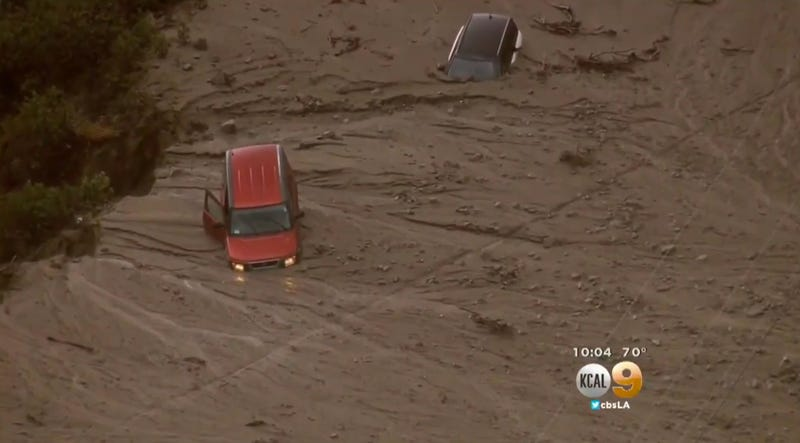 Illustration for article titled 200 Cars Trapped in a California Mudslide Are a Preview for This Winter's El Niño