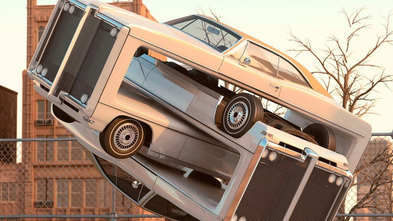 Illustration for article titled These Distorted Cars Will Mess With Your Mind, Man
