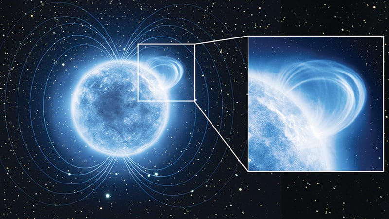 Illustration for article titled Astronomers discover an insanely strong magnetic field