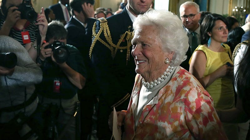 Illustration for article titled Barbara Bush Hospitalized for Vague 'Respiratory Related Issue'