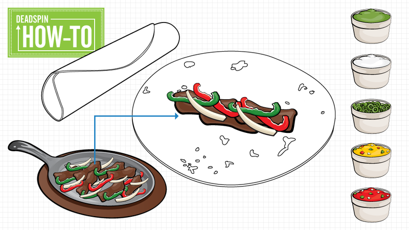 Illustration for article titled How To Fold A Fajita Without Looking Like Some Sort Of Dumbass