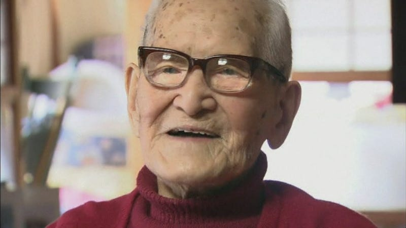 Jiroemon Kimura, the oldest man ever (Image: YouTube/Screenshot)