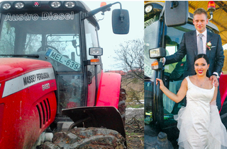 Illustration for article titled Fatolvajláshoz használt traktoron fotózkodtak Orbán Ráhelék