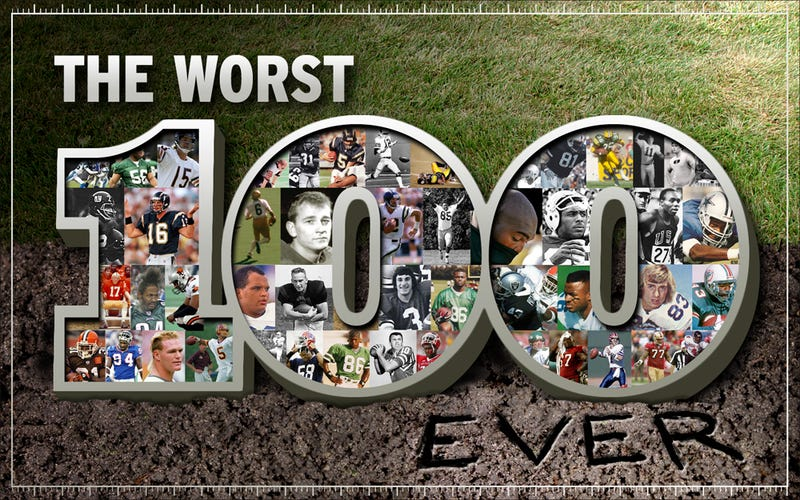 Illustration for article titled The Bottom 100: The Worst Players In NFL History (Part 1)