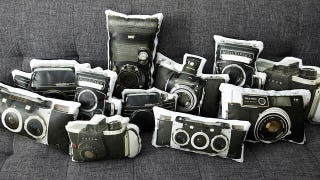 Illustration for article titled Vintage Camera Pillows Let You Rest Your Head On Defunct Technology