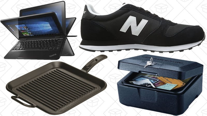 Illustration for article titled Today's Best Deals: $290 Thinkpad, Lodge Grill Pan, New Balance Sneakers