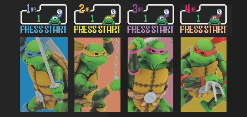 Illustration for article titled TMNT Figures Based On Konami's Classic 1989 Arcade Game