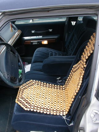 Oh Beaded Seat Cover How My Back Yearns For Your Nubbly Embrace You Are The De Crapifier Of Seats Ghetto Body Cooler And Sweet Taxi Driver