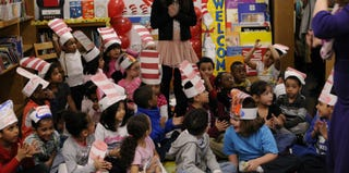 Kindergarteners participate in Read Across America Day. (Getty Images)