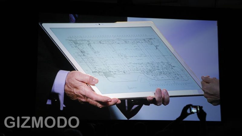 Illustration for article titled Panasonic Has a Comically Large 4K Tablet