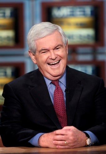 """Illustration for article titled Newt Gingrich: Sarah Palin """"Personifies Courage"""""""